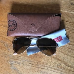 Ray-Ban Aviator Sunglasses - Brown/Gold 48mm